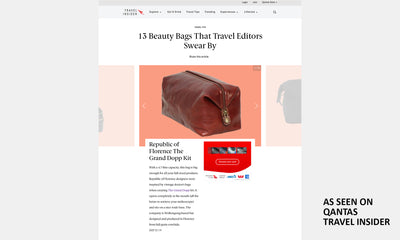 The Grand dopp kit Chocolate - toilet bag