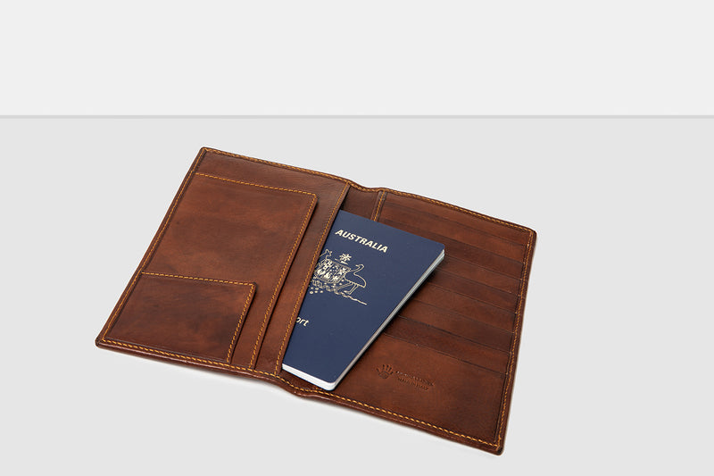 Jefferson Brown Leather Travel Wallet