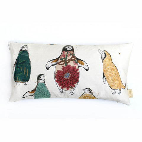 A Parcel of Penguins Cushion