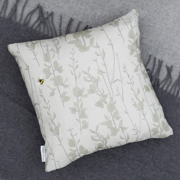 Broom and Bee Dusk Cushion