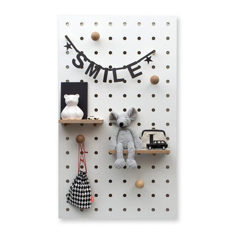 Peg-It-All Wall Mounted Storage Panel (White)
