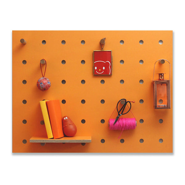 Peg-It-All Wall Mounted Storage Panel (Orange)