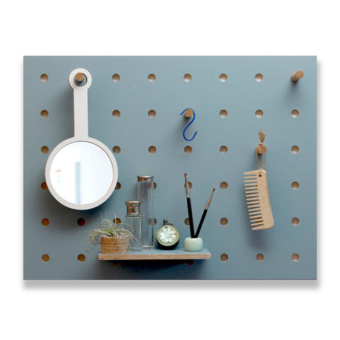Peg-It-All Wall Mounted Storage Panel (Blue)