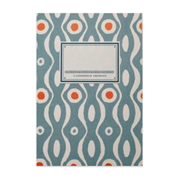 Persephone A6 Notebook - Teal & Burnt Orange