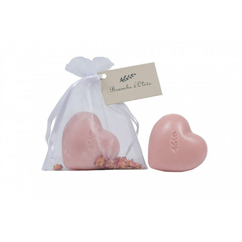 Bagged Heart Soap - Rose