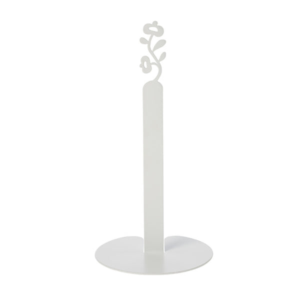 Paper Roll Holder - Floral (White)