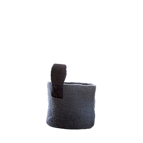 Felt Basket (S) - Dark Grey