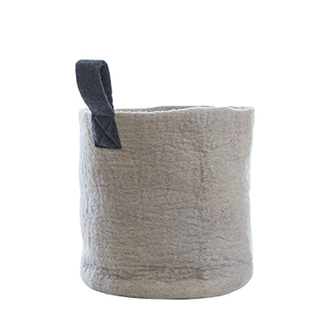 Felt Basket (M) - Grey