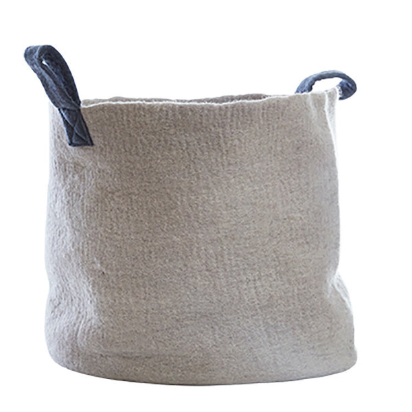 Felt Basket (L) - Grey