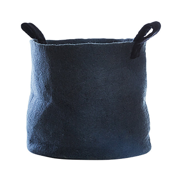 Felt Basket (L) - Dark Grey