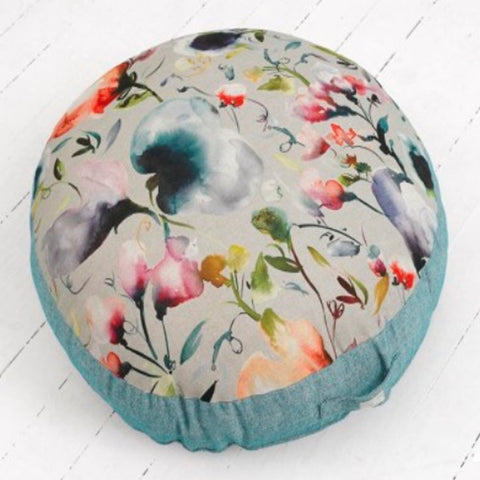 Peony Blue Floor Cushion (M)