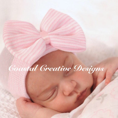 Baby Cotton Knit Cap with Bow