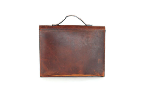 "College Bag 13"" Blk Vintage Cognac"
