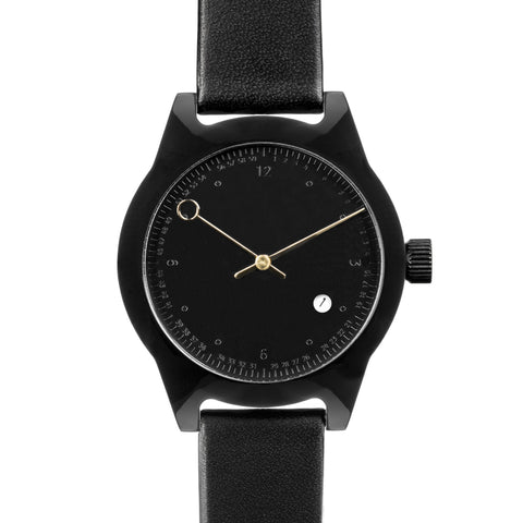 SQ03 Minuteman, Two Hand, Black (Embossed Dial)