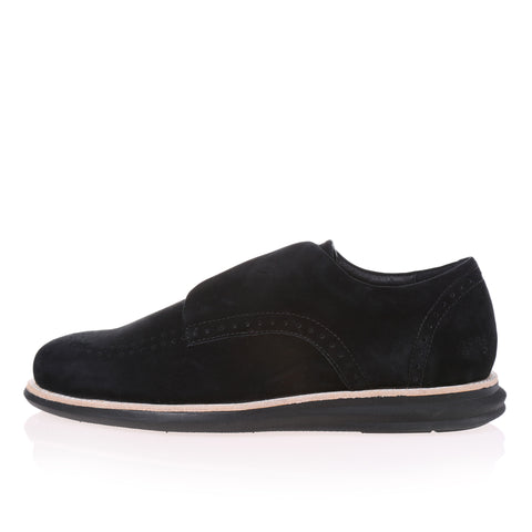 380g A Black Nubuck Velcro (Men)