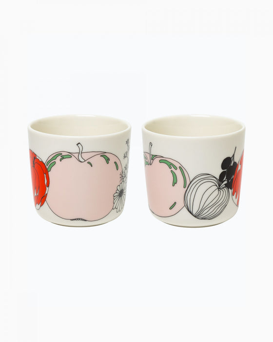 marimekko tarhuri coffee cup 2dl, without handle | boxed set of 2