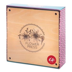 wooden flower press | back in!