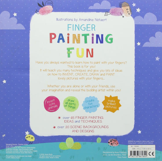 finger painting fun | activity book | back in