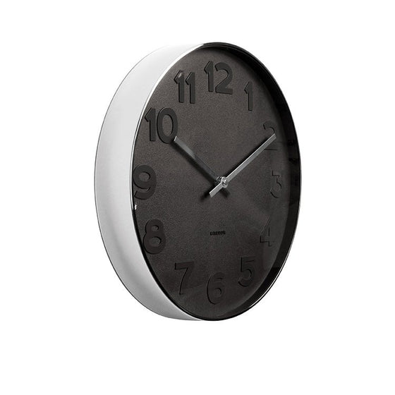 karlsson wall clock | mr black numbers small