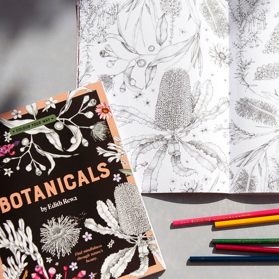 botanicals colouring book by Edith Rewa