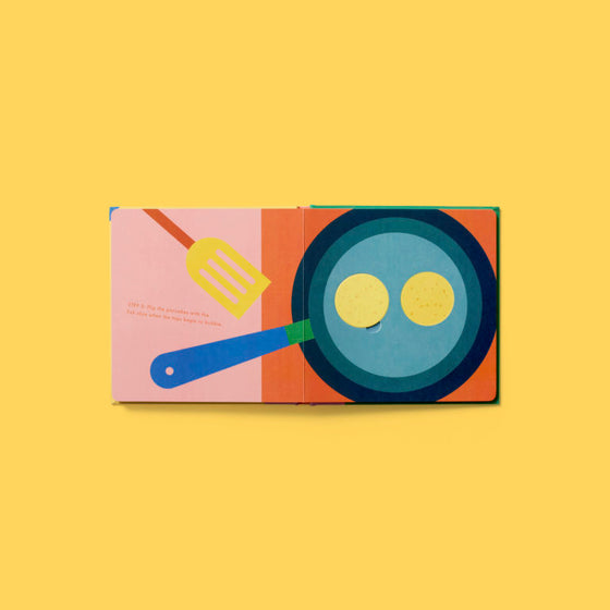an interactive recipe book | pancakes by Lotta Nieminen | back in
