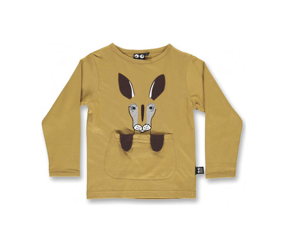 ubang babblechat kangaroo tee | golden brown