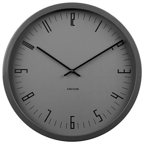 karlsson cased index wall clock | steel black