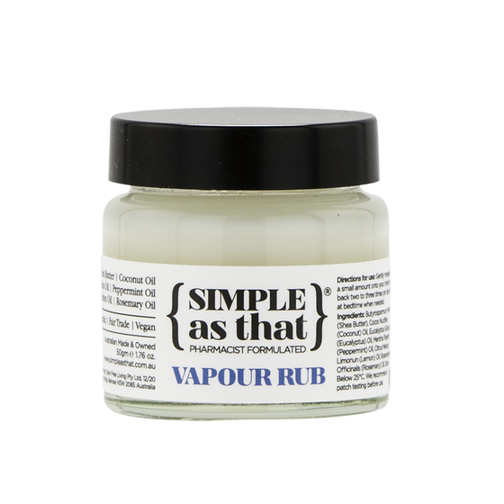 simple as that | vapour rub