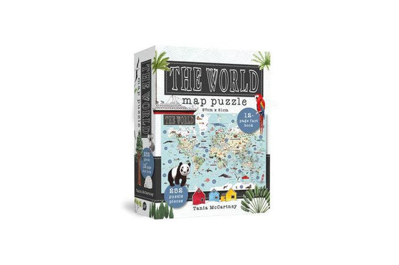 the world puzzle map | Tania McCartney