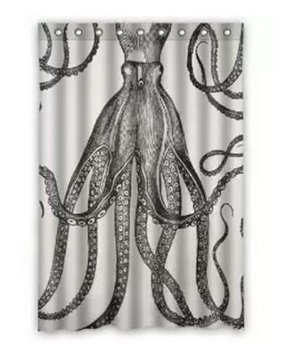 Vintage Steampunk Octopus Garden Shower Curtain