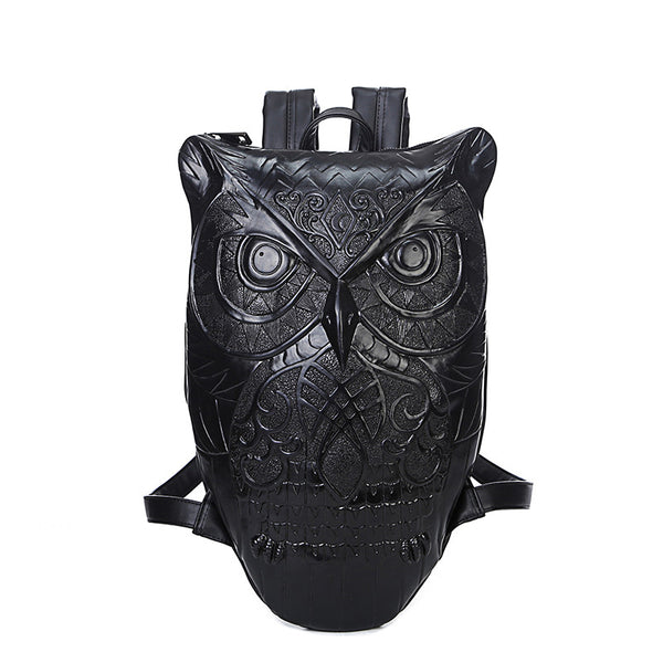Steampunk Leather Owl Backpack