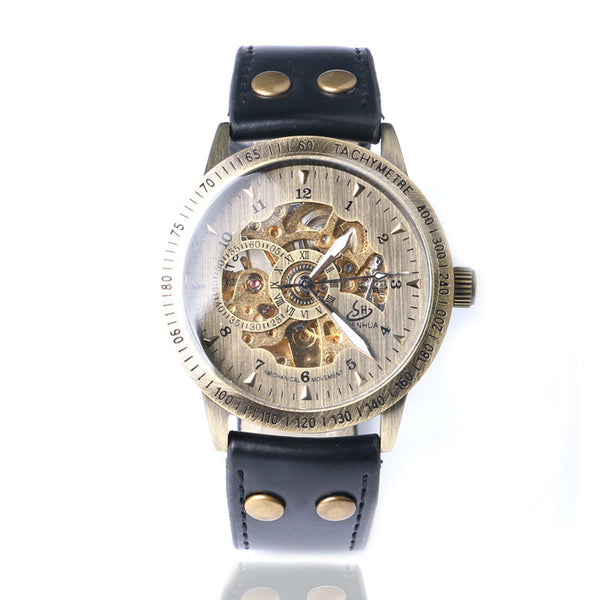 Leather Mechanical Watch