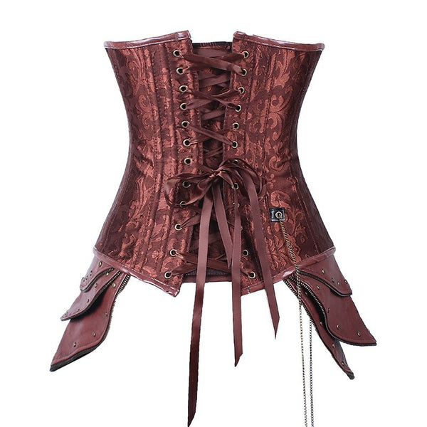 Sexy Brown Steampunk Corset