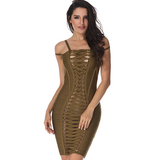 Strapped Bandage Dress- Olive - Her Teen Dream