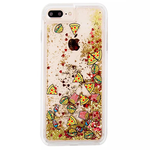 Junk Food Pizza Hamburger and Fries iPhone Case