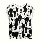 Mickey Mouse Faces Tee - Her Teen Dream