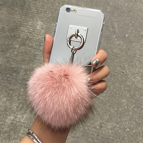timeless design 1d35f ea37f Puff Fur Ball Pom Pom Furry iPhone Case - Colors