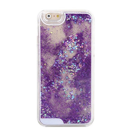 Quicksand Purple Glitter iPhone Case - Her Teen Dream