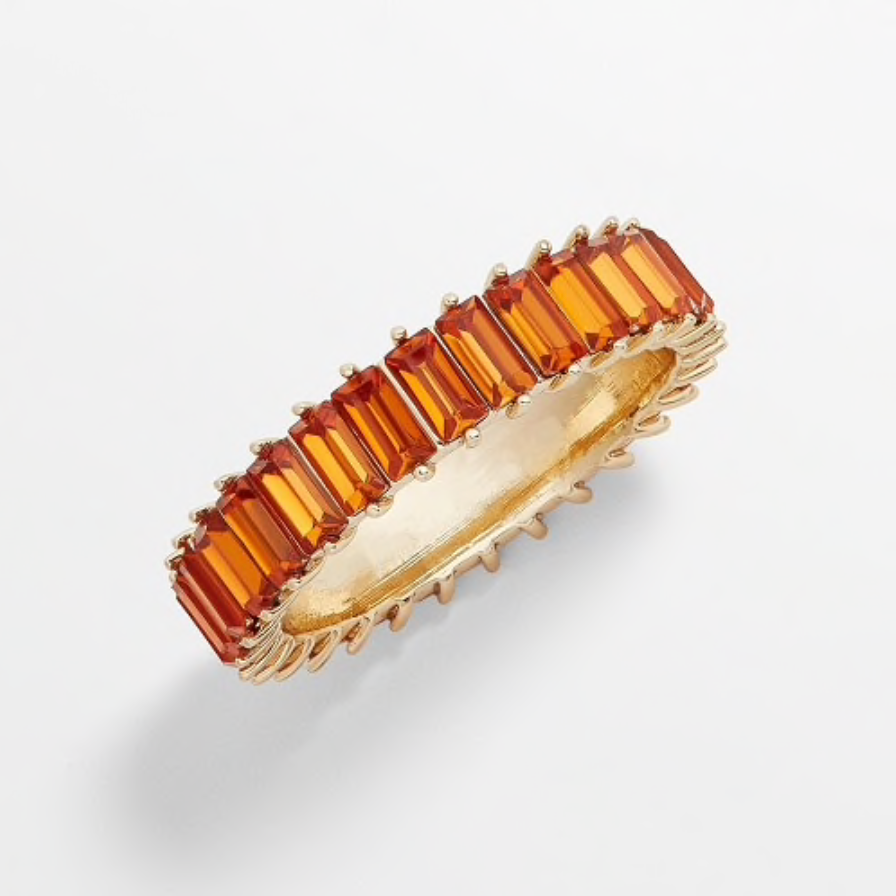 Large Gold Baguette Rings