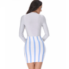 Striped Body Con Dress - Her Teen Dream