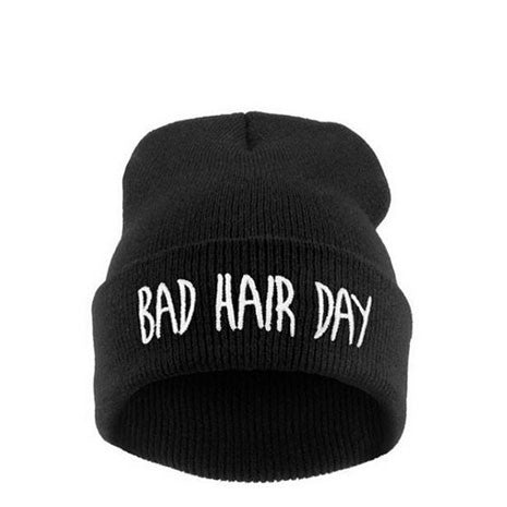 Bad Hair Day Beanie Black - Her Teen Dream