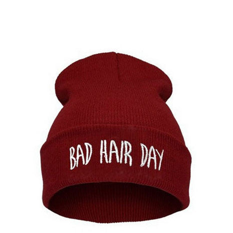 Bad Hair Day Beanie Maroon - Her Teen Dream