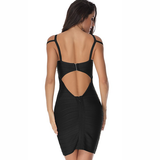 Strapped Bandage Dress- Black - Her Teen Dream