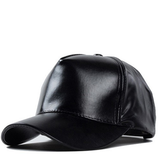Black Faux Leather Hat - Her Teen Dream