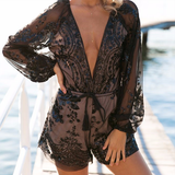 Love Me Sequins Playsuit - Black - Her Teen Dream