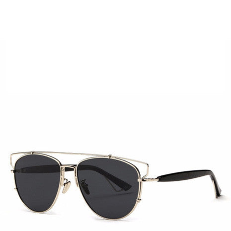 Alessa Aviator Sunglasses - Black Silver - Her Teen Dream