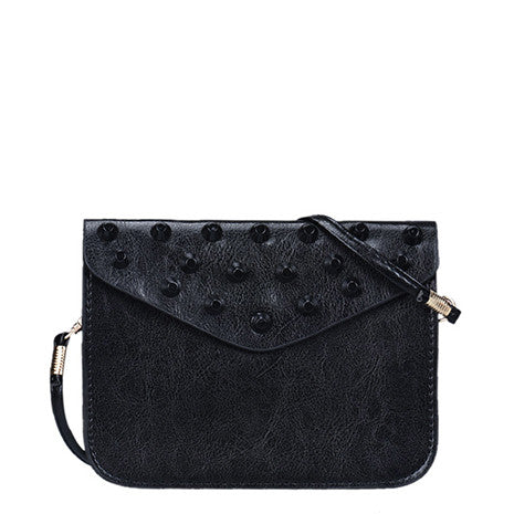 Black Studded Shoulder Bag - Her Teen Dream