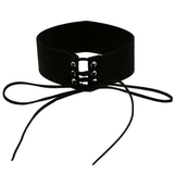 Velvet Lace Up Collar - Black - Her Teen Dream