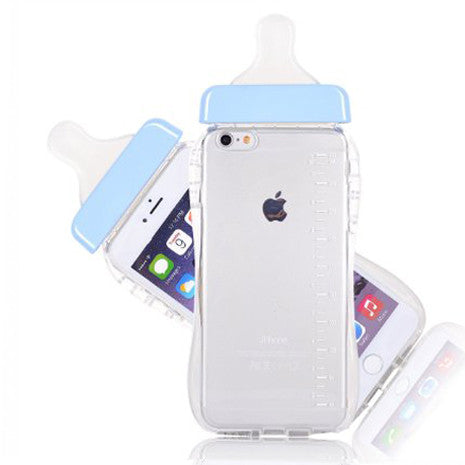 iPhone Blue Baby Bottle - Her Teen Dream