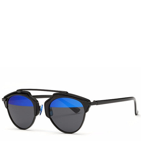 Butterfly Rimmed Sunglasses - Blue Black - Her Teen Dream